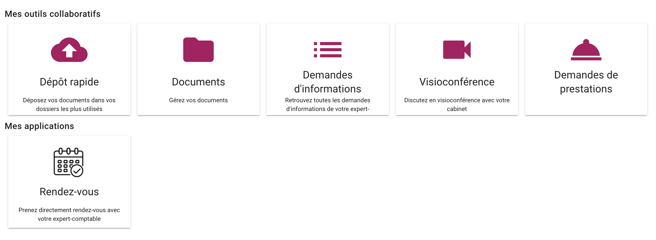 gestion applications partenaires