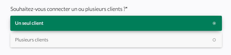 connexion un seul client