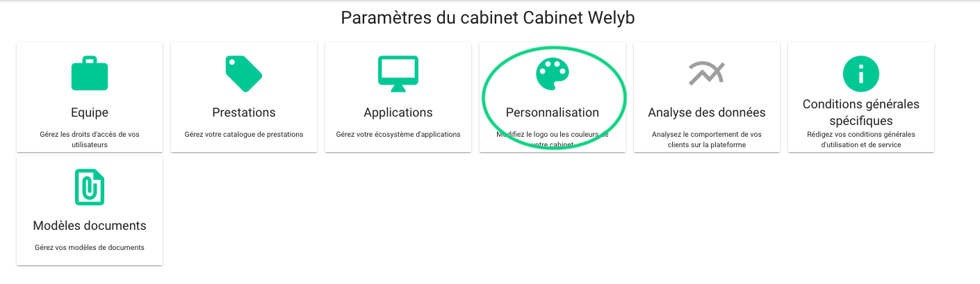 personnalisation cabinet
